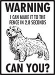 Warning! Norfolk Terrier Fence Signs - 9
