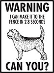 Warning! Otterhound Fence Signs - 9