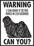 Warning! Puli Fence Signs - 9
