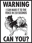 Warning! Chihuahua (Long Hair) Fence Signs - 9