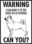 Warning! Norwegian Buhund Fence Signs - 9