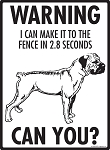 Warning! Boerboel Fence Signs - 9