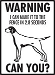 Warning! Pointer Fence Signs - 9