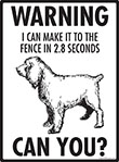 Warning! Boykin Spaniel Fence Signs - 9