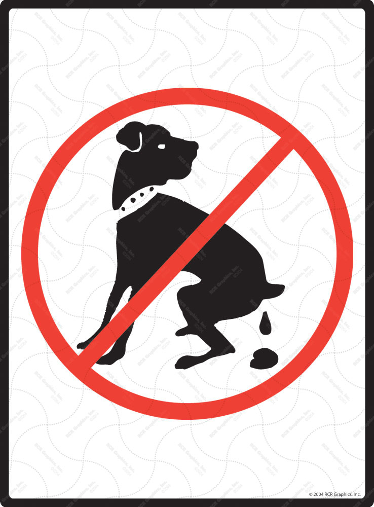 No Dog Pooping Signs