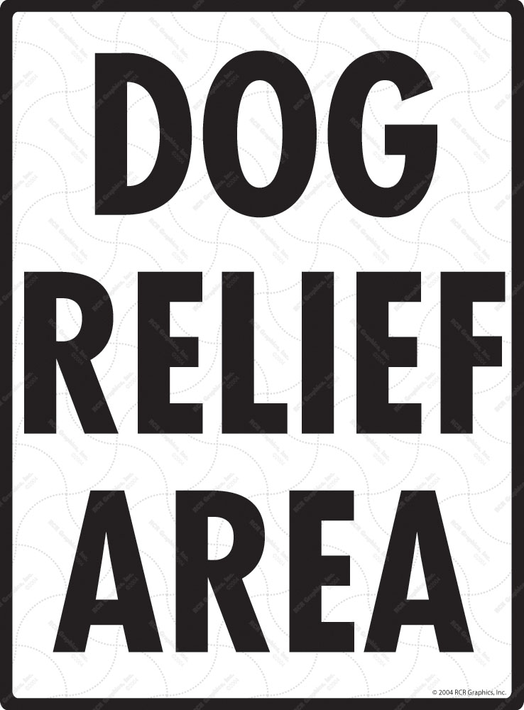 Dog Relief Area - Potty Area Sign - 9