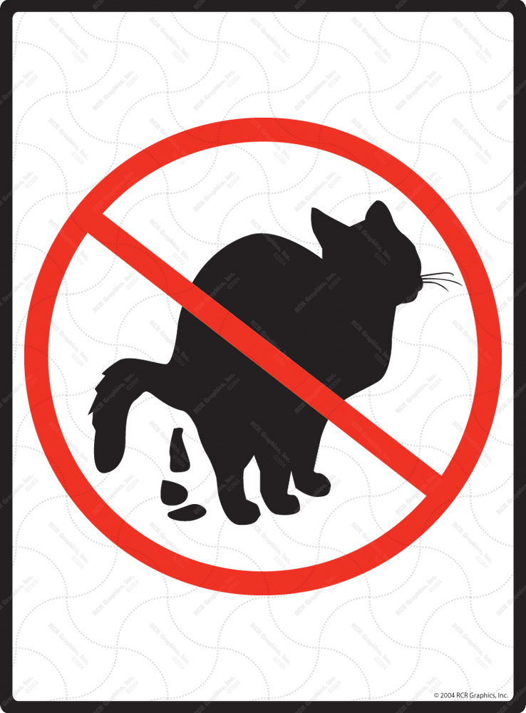 No Cat Pooping Exterior Aluminum Cat Poop Signs 9 Quot X 12 Quot