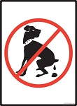 No Dog Pooping Sign - 9