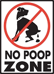 No Dog Poop Zone Sign - 9