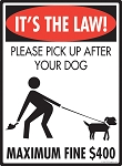 It's the Law! Pick Up Signs