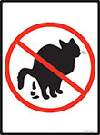 No Cat Pooping Sign - 9