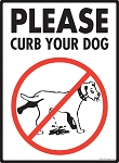 Please Curb Your Dog Signs
