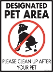 Designated Pet Area Sign - 9