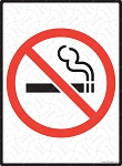 No Smoking with Symbol Sign