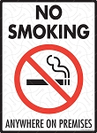 No Smoking Anywhere on Premises Sign