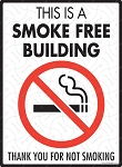 This is a Smoke Free Building Sign - 9