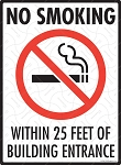 No Smoking Building Entrance Sign