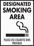 Designated Smoking Area Sign - 9