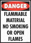 Danger - Flammable Material No Smoking Sign - 9