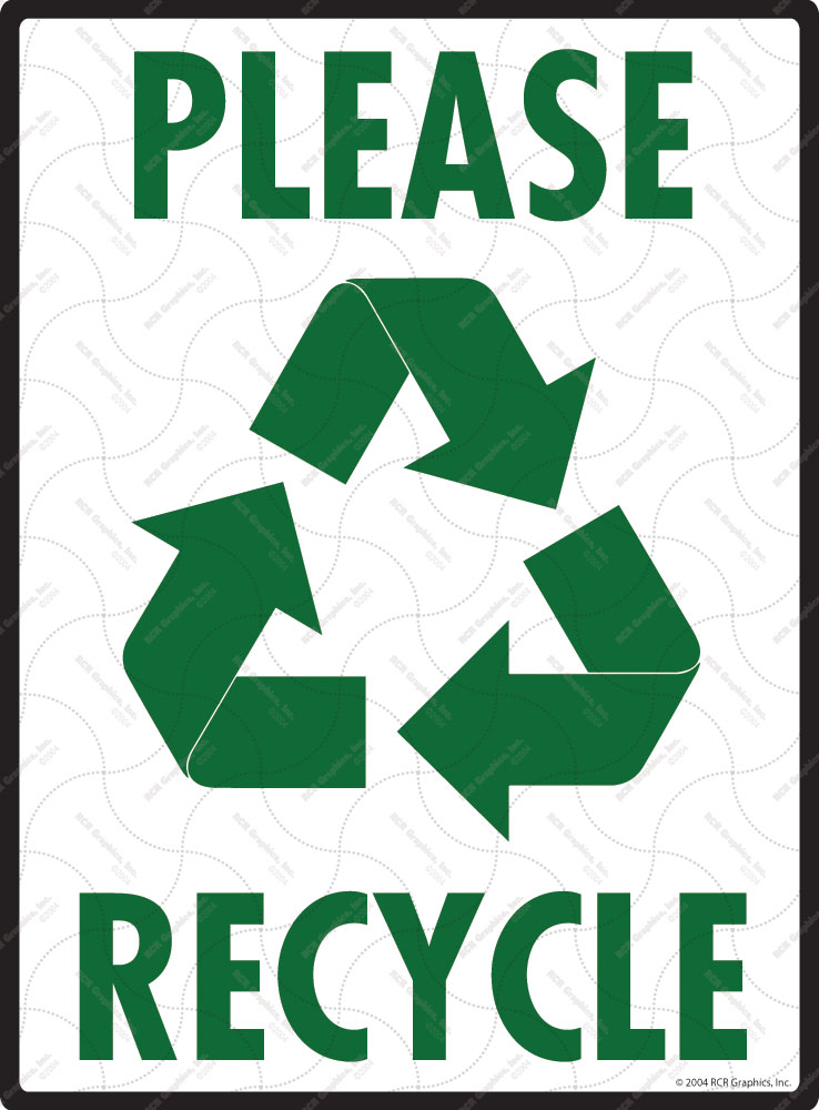 Please Recycle with Symbol Sign - 9
