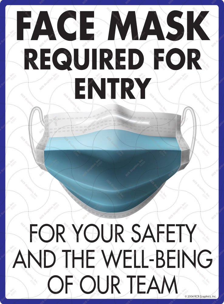 Face Mask Required for Entry Sign - 9