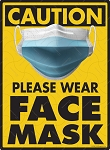 Caution! Wear Face Mask Sign - 9