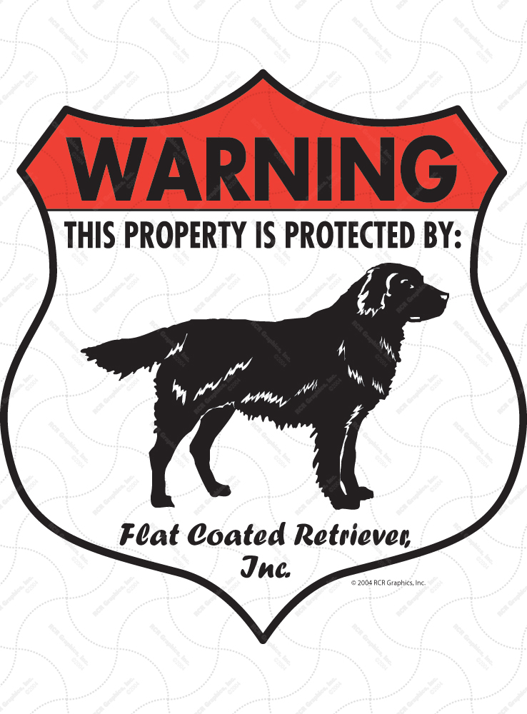 Flat-Coated Retriever Badge Shape Signs