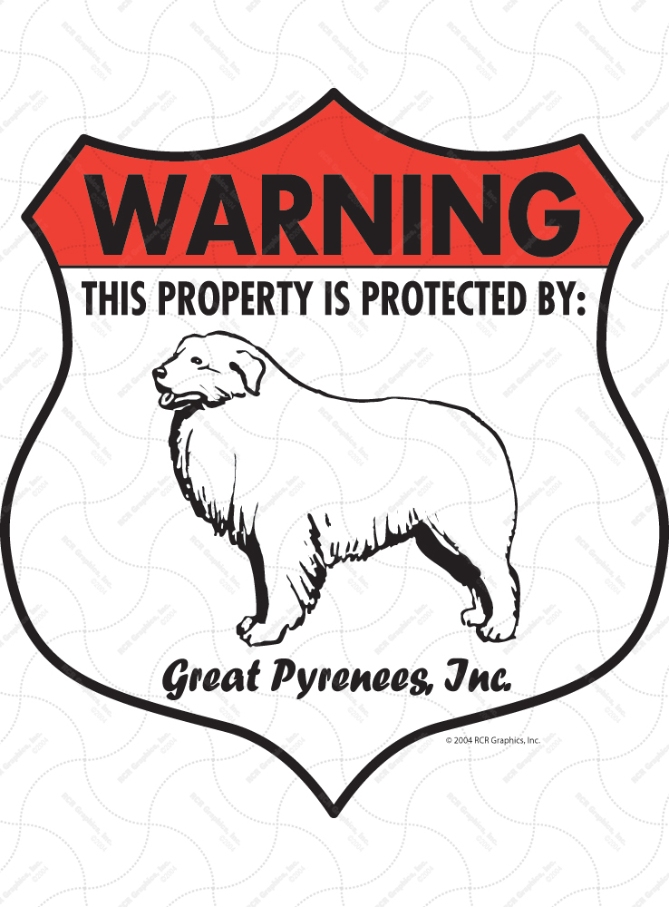 Great Pyrenees Badge Shape Signs