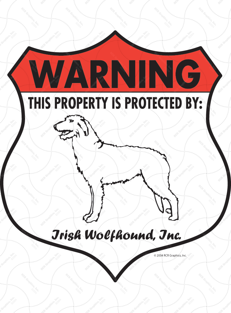 Irish Wolfhound  STREET SIGN ~ High Quality Aluminum ~