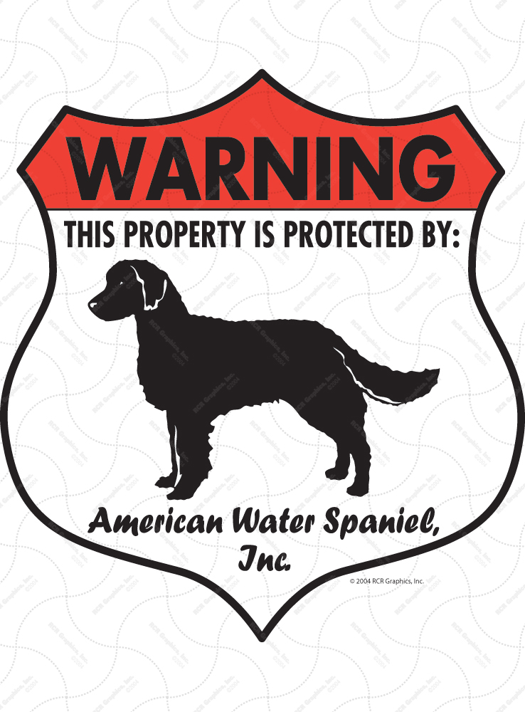 American Water Spaniel Badge Shape Signs