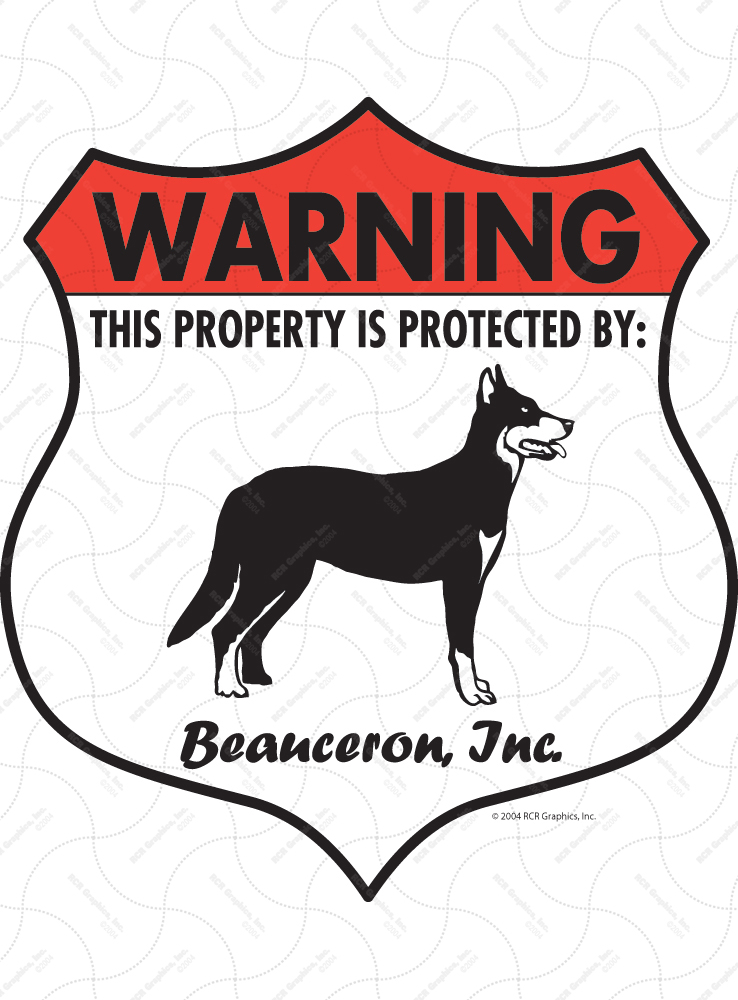 Beauceron Badge Shape Signs