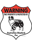 Australian Shepherd! Property Patrolled Badge Sign & Sticker