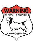 Basset Griffon Badge Shape Signs