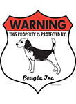 Beagle Badge Shape Signs