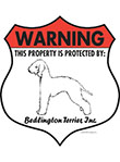 Bedlington Terrier Badge Shape Signs