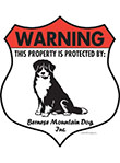 Bernese Mountain Dog Badge Shape Signs
