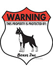 Boxer Badge Shape Signs