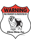 Chow! Property Patrolled Badge Sign and Sticker