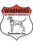 Dalmatian! Property Patrolled Badge Sign and Sticker