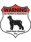 Irish Water Spaniel Badge Shape Signs