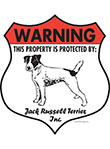 Jack Russell Terrier! Property Patrolled Badge Sign & Sticker