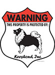 Keeshond! Property Patrolled Badge Sign and Sticker