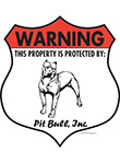 American Pit Bull! Property Patrolled Badge Sign and Sticker