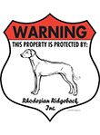 Rhodesian Ridgeback Badge Shape Signs