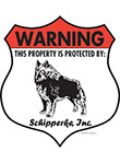 Schipperke! Property Patrolled Badge Sign and Sticker