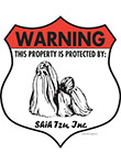 Shih Tzu! Property Patrolled Badge Sign and Sticker
