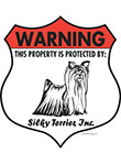 Silky Terrier! Property Patrolled Badge Sign and Sticker