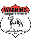 Staffordshire Bull Terrier Badge Shape Signs