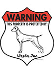 Vizsla Badge Shape Signs