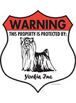 Yorkshire Terrier! Property Patrolled Badge Sign & Sticker
